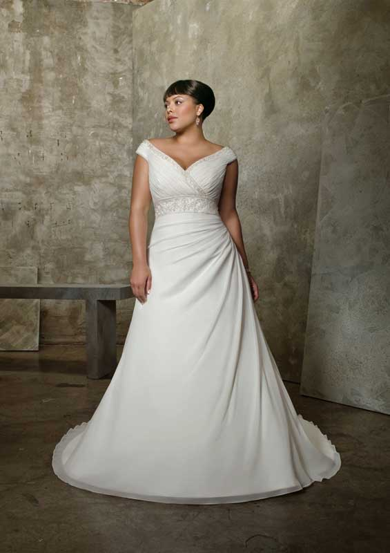 Wedding gowns for your unique body type stellar events for Drop waist wedding dress body type